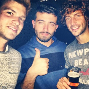 Met some really awesome dudes the first day. Say hello to my new fratelli italiani Dario and Luca.