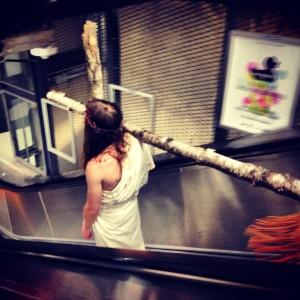 Met Jesus on the Metro.