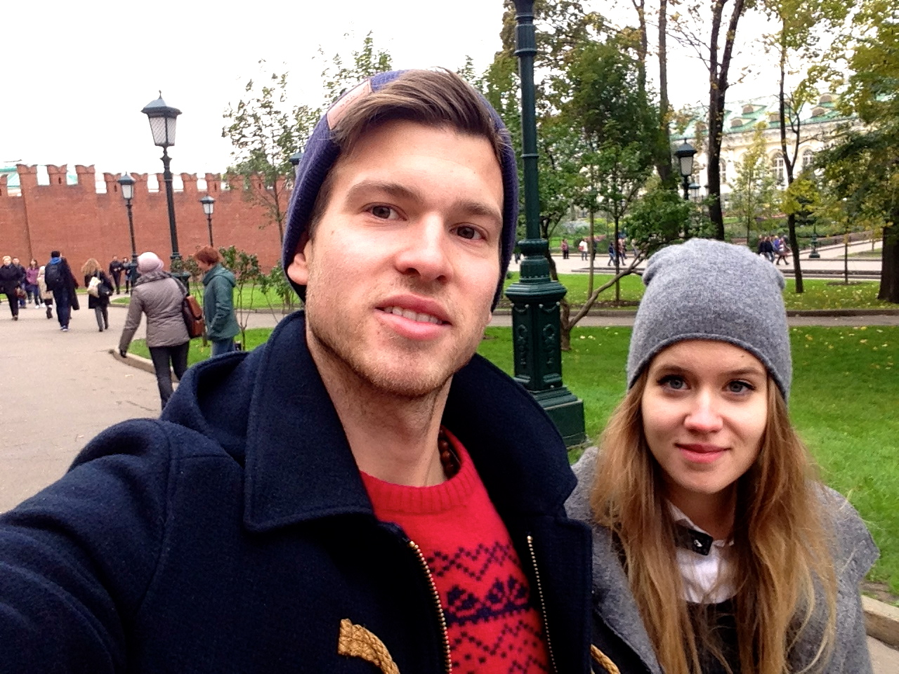 ...strolling around on the outside of the kremlin...
