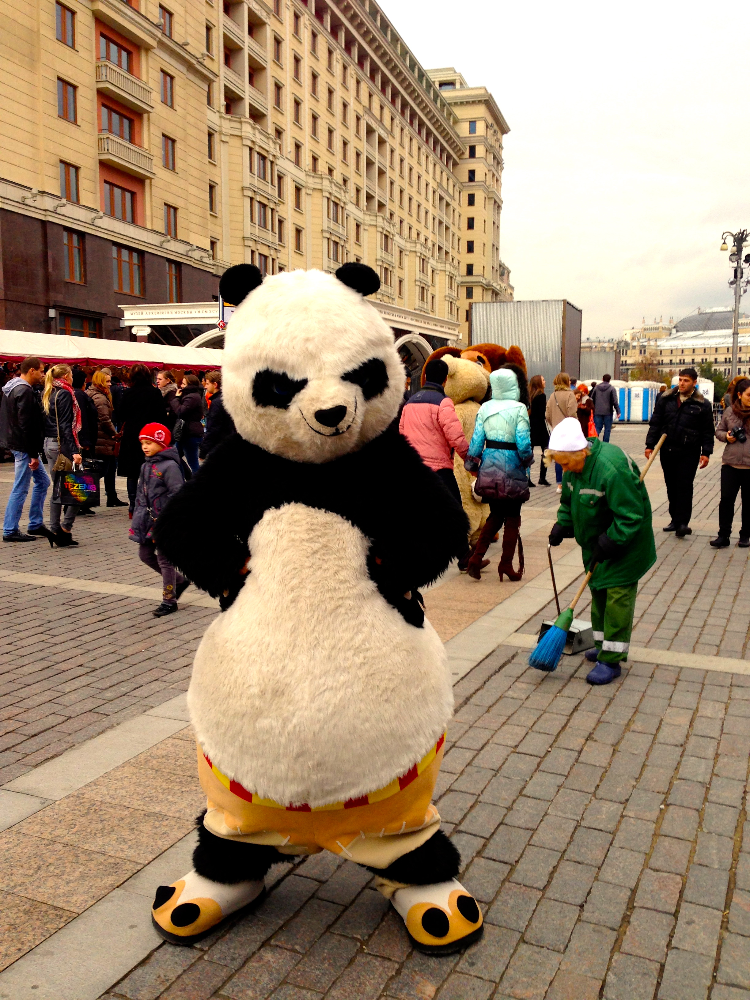 ...apparently also kung-fu panda met up with a couple of friends in moscow that weekend...