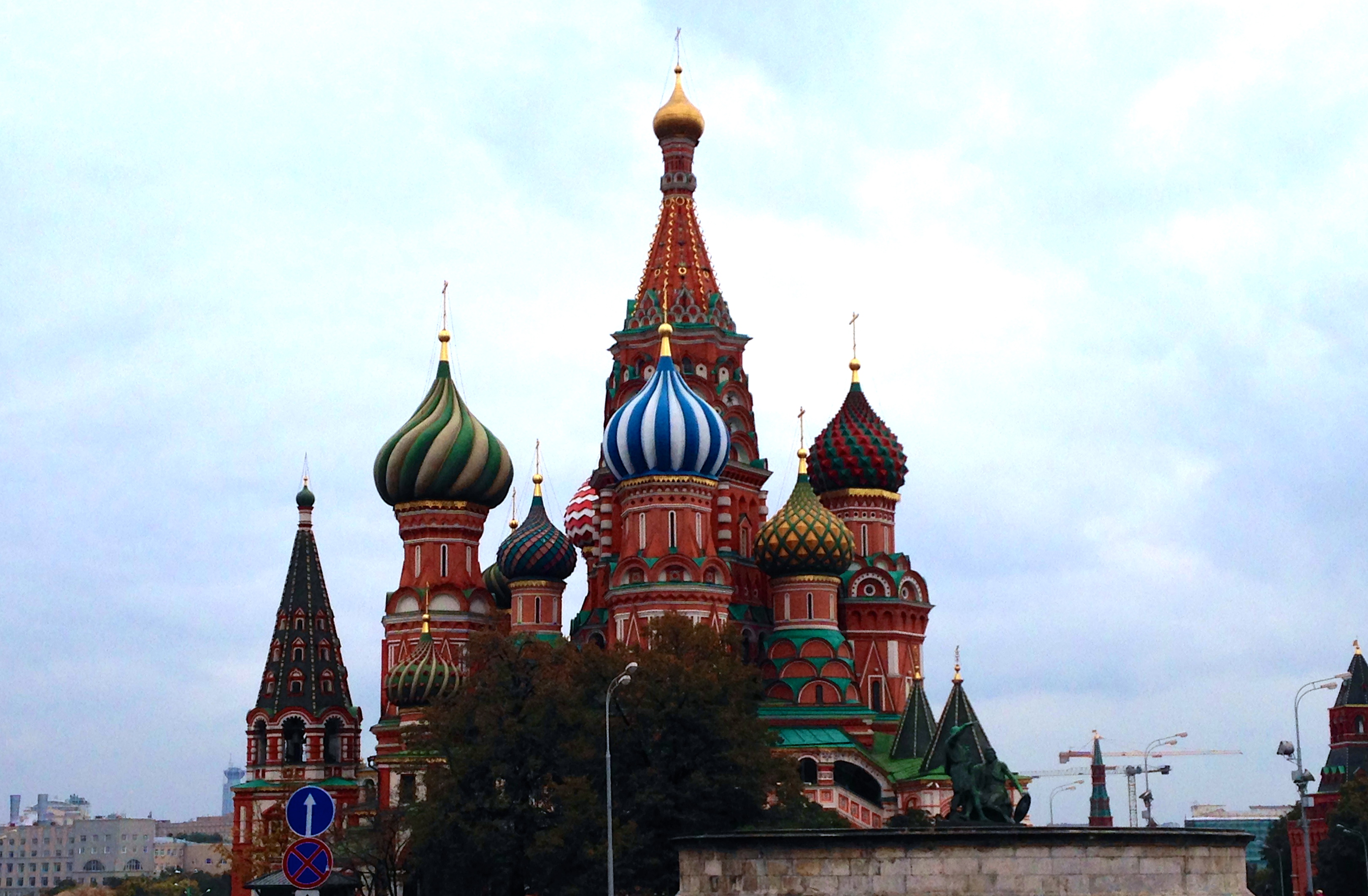 ...finally we arrived at the red square where we were stunned by the beauty of the st. basil's cathedral...