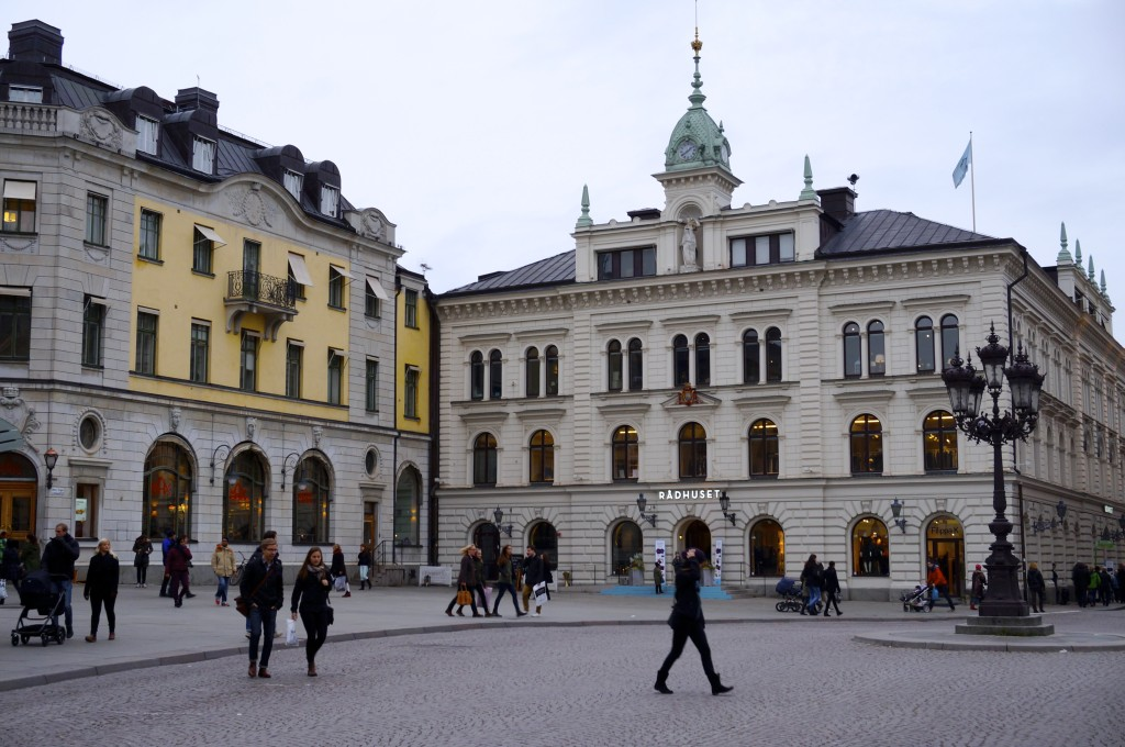 we started our tour at the central square of uppsala