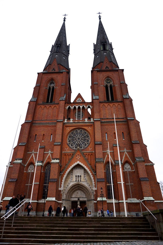 the most obvious and probably also most impressive sight in uppsala is the uppsala cathedral, sweden's biggest church