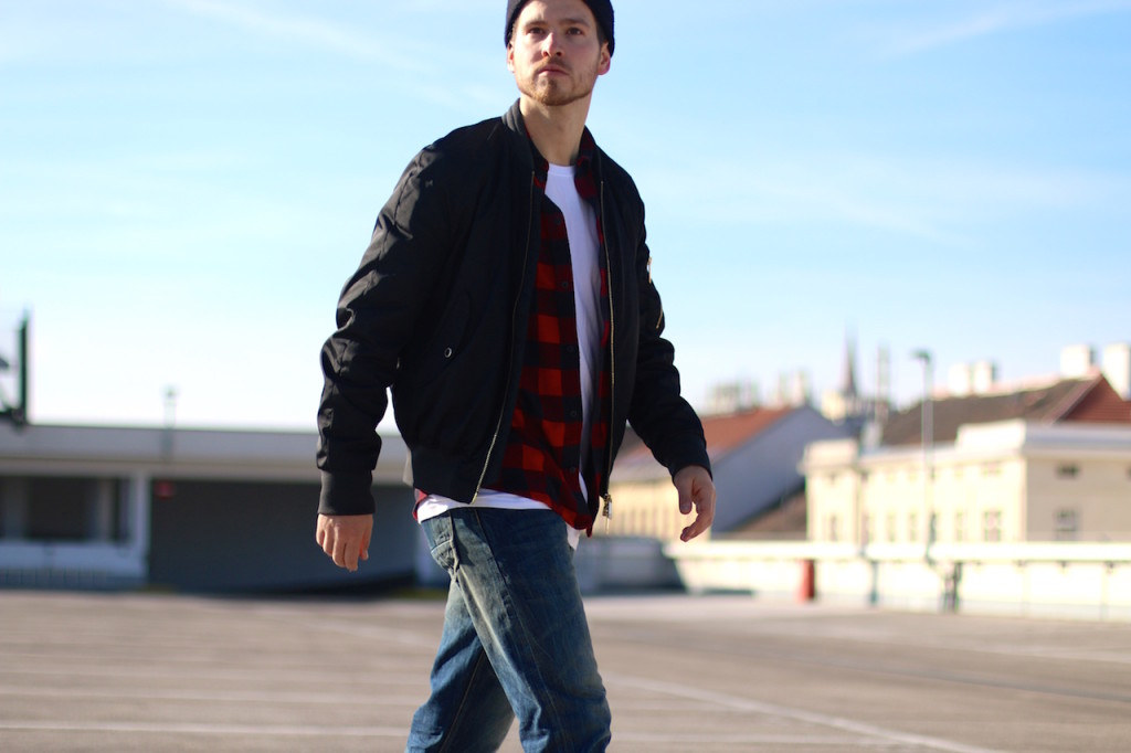 Lumberjack Bomberjacket PRPS Prpsjeans Flannel shirt modeblogger herrenblog männerblog wiener blogger viennablogger