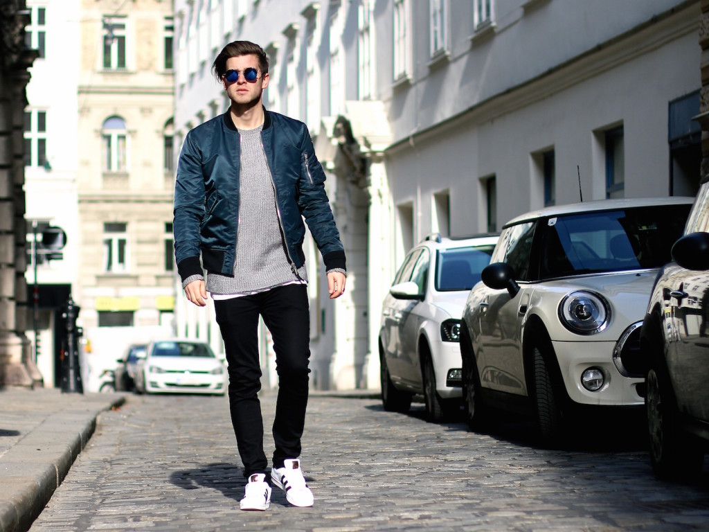 meanwhileinawesometown menswear blogger wearing aboutyoude aboutyou schott nyc blkdnm tigerofsweden adidasoriginals