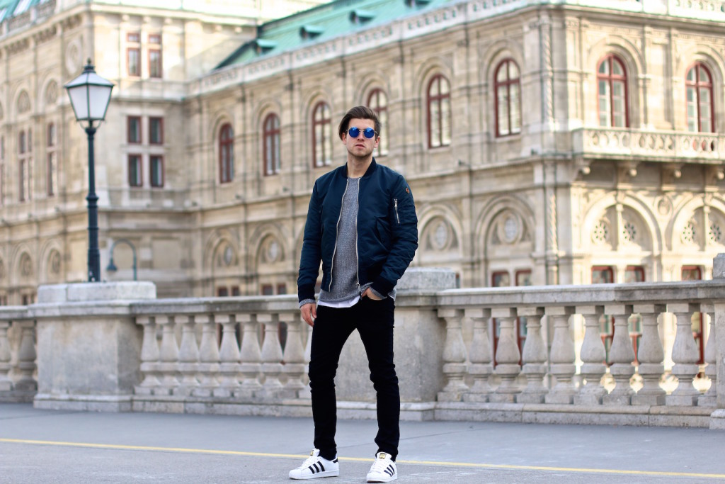 meanwhileinawesometown menswear blogger wearing aboutyoude aboutyou schott nyc blkdnm tigerofsweden adidasoriginals 4
