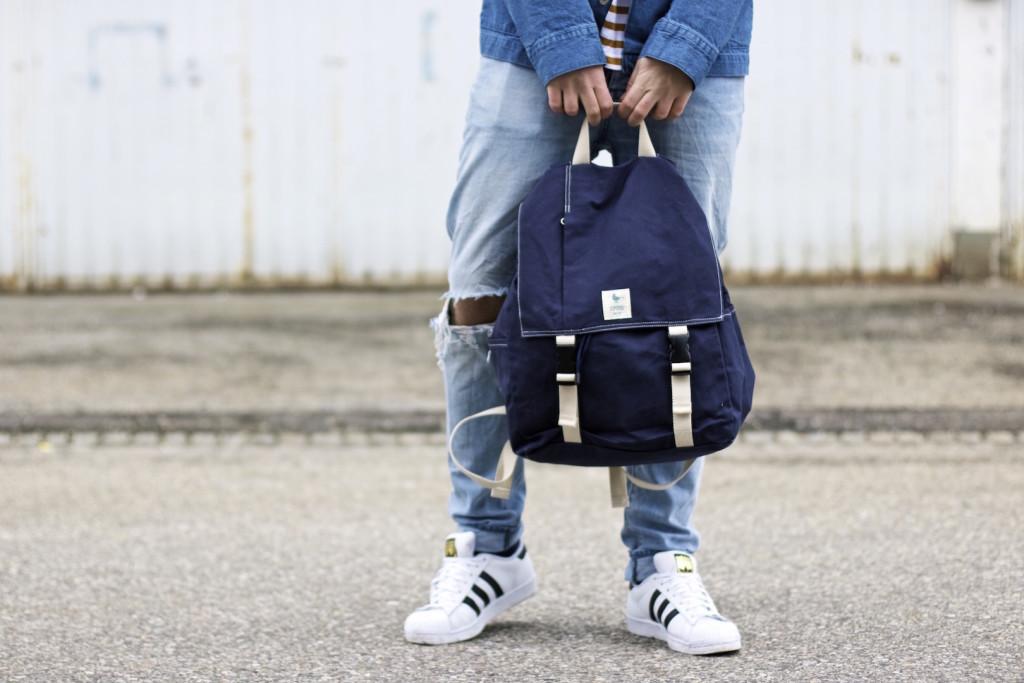 meanwhileinawesometown modeblogger denim and stripes outfitpost herrenmode frühlingstrends 2016 hm neuw denim adidas originals 1