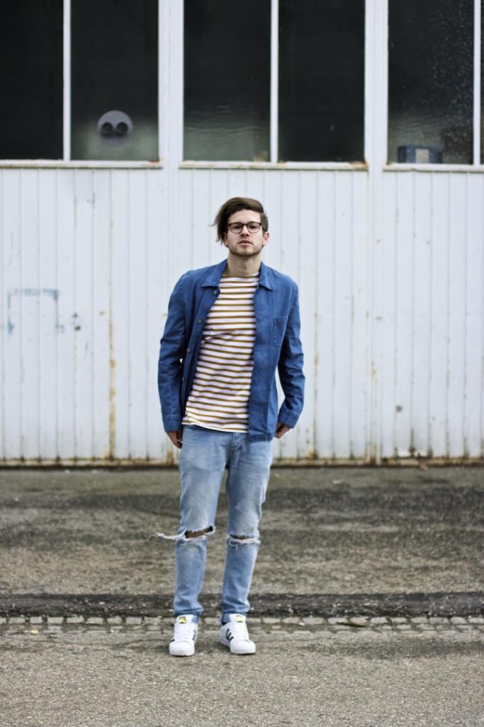 meanwhileinawesometown modeblogger denim and stripes outfitpost herrenmode frühlingstrends 2016 hm neuw denim adidas originals 11