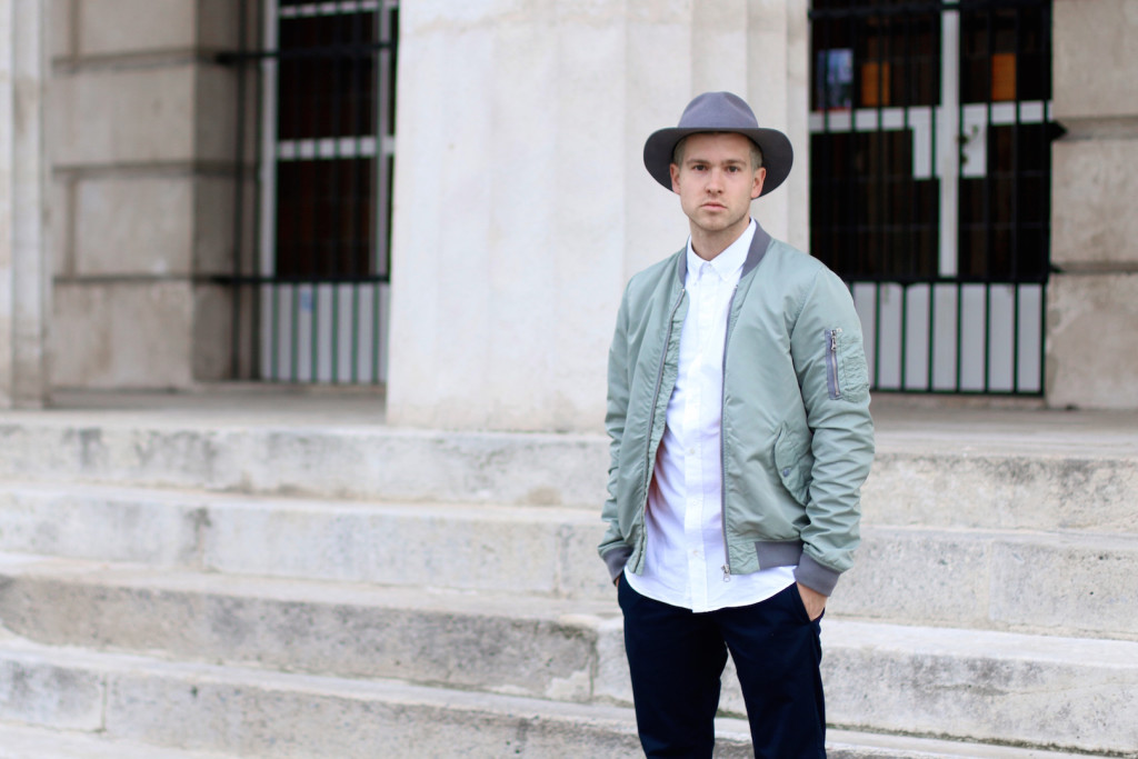 Meanwhileinawesometown | Mens Fashion and Style Blog | Outfit Asket Oxford Shirt Zanerobe Box Chinos Adidas Superstar Scotch and Soda Bomber Jacket_3