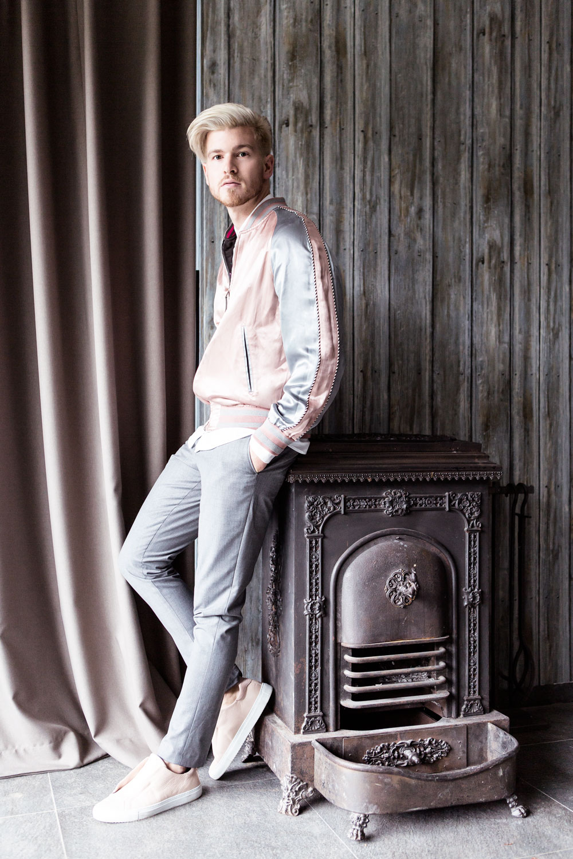 Nostalgic Extravaganza with Vangardist Magazine wearing Louis Vuitton Souvenir Jacket
