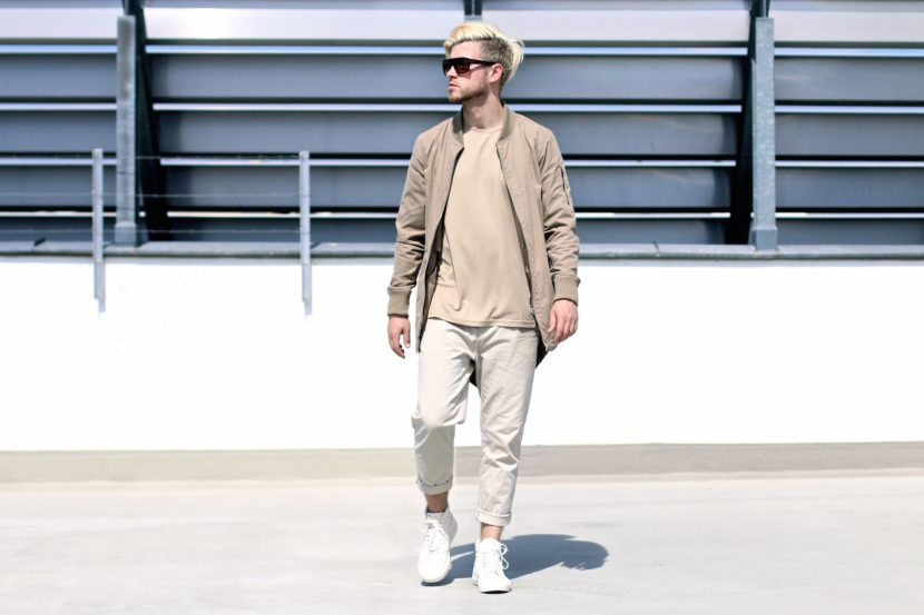 meanwhileinawesometown mens fashion and lifestyle blogger outfit trend colors beige and sand zanerobe parka weekday chinos_4