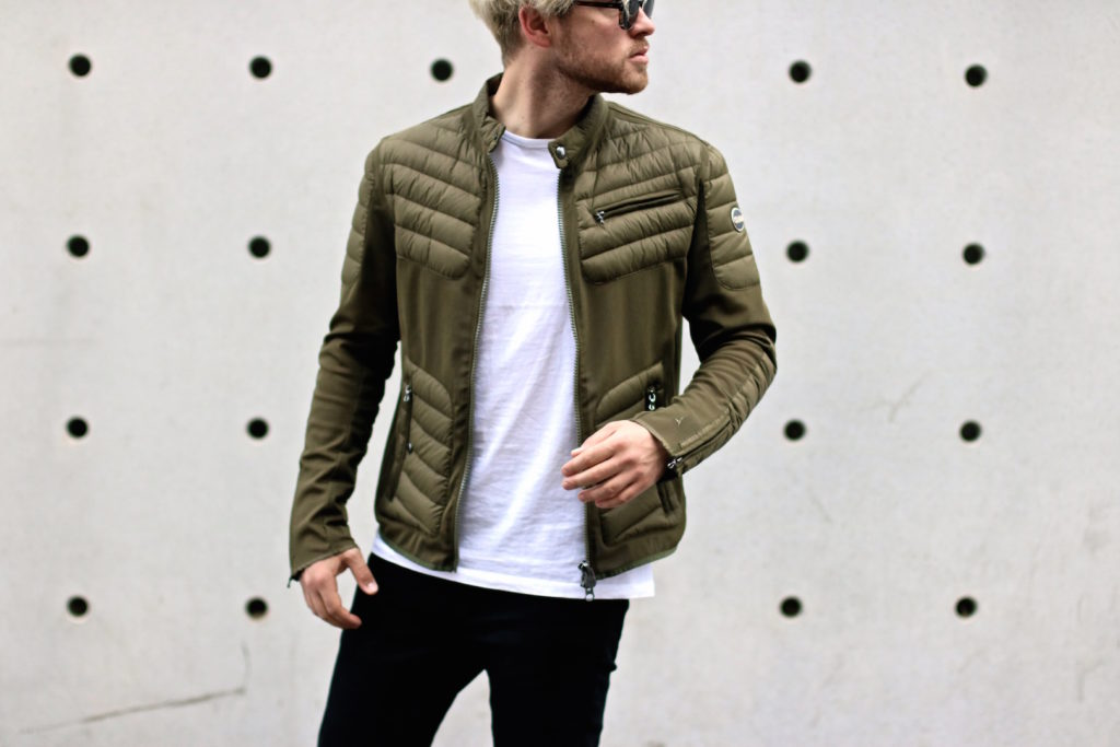 meanwhile in awesometown mens fashion and lifestyle blogger menswear outfit colmar summer down jacket only and sons jeans asket t-shirt ace and tate clip sunglasses_8