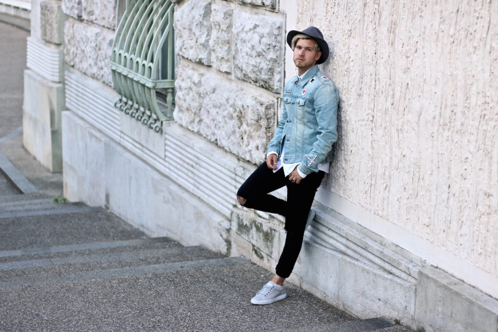 meanwhileinawesometown austrian mens fashion and lifestyle blogger only and sons ripped jeans shirt blk dnm denim jacket outfit_3