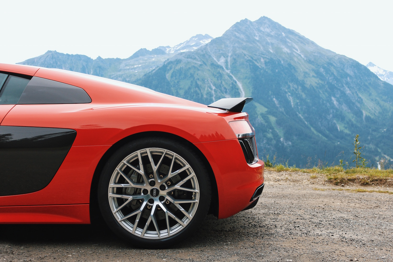 Audi R8 Tour Gerlospass Meanwhile in Awesometown Mens Fashion and Lifestyle Blogger from Austria Red Audi R8 V10