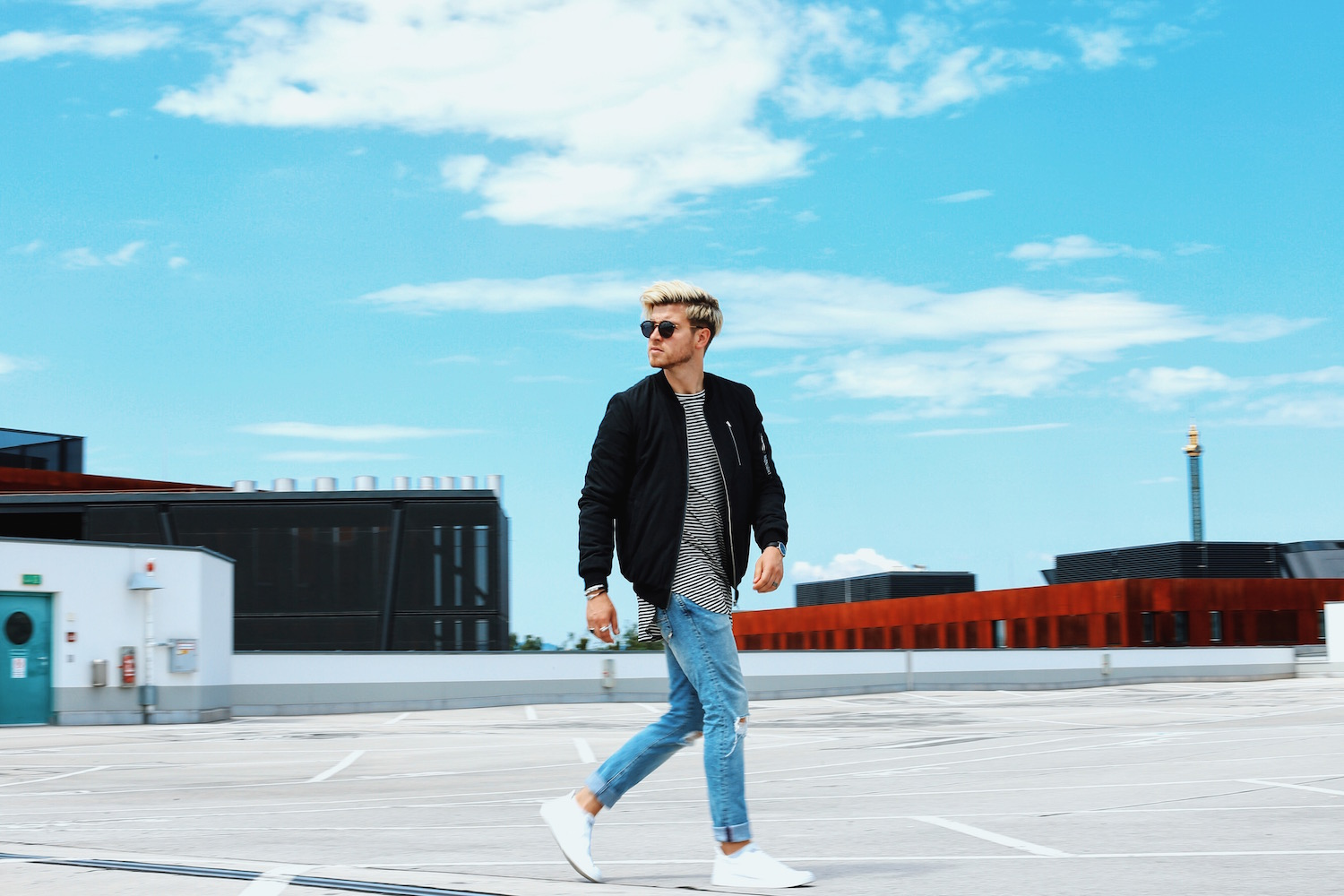 Outfit: Urban Bomber Jacket Streetstyle with Midnight Co
