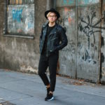 Outfit_All Black Viennese Hipster Look_Viparo Biker Jacket_Hat_Huarache_Allsaints_Meanwhile in Awesometown Austrian Mensfashion Blogger