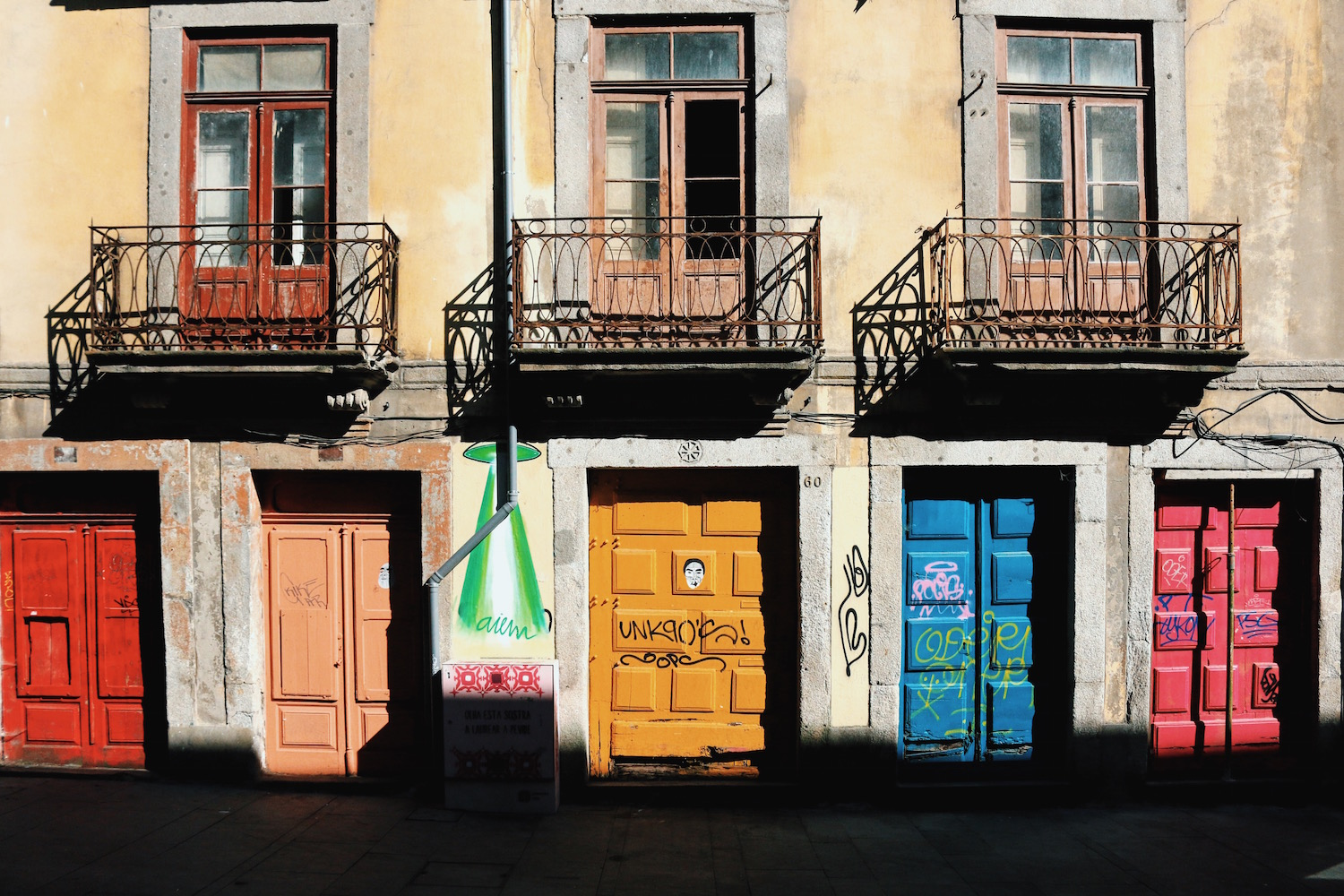 Colorful Doors at Rua das Flores