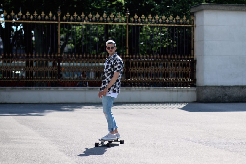 Longboarding in Style Meanwhile in Awesometown Mens Fashion and Style Blogger