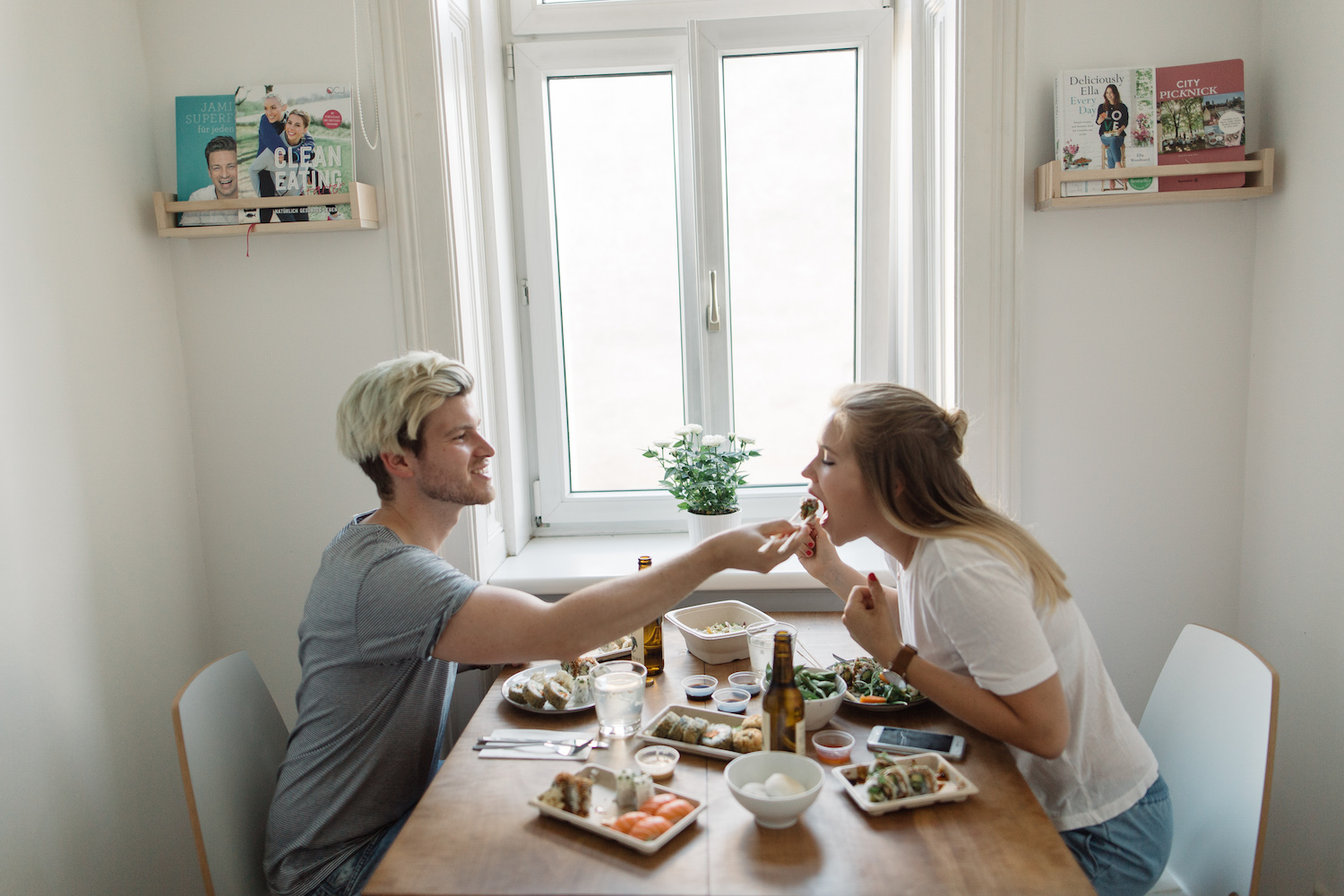 Cozy Couple Dinner at Home with Foodora