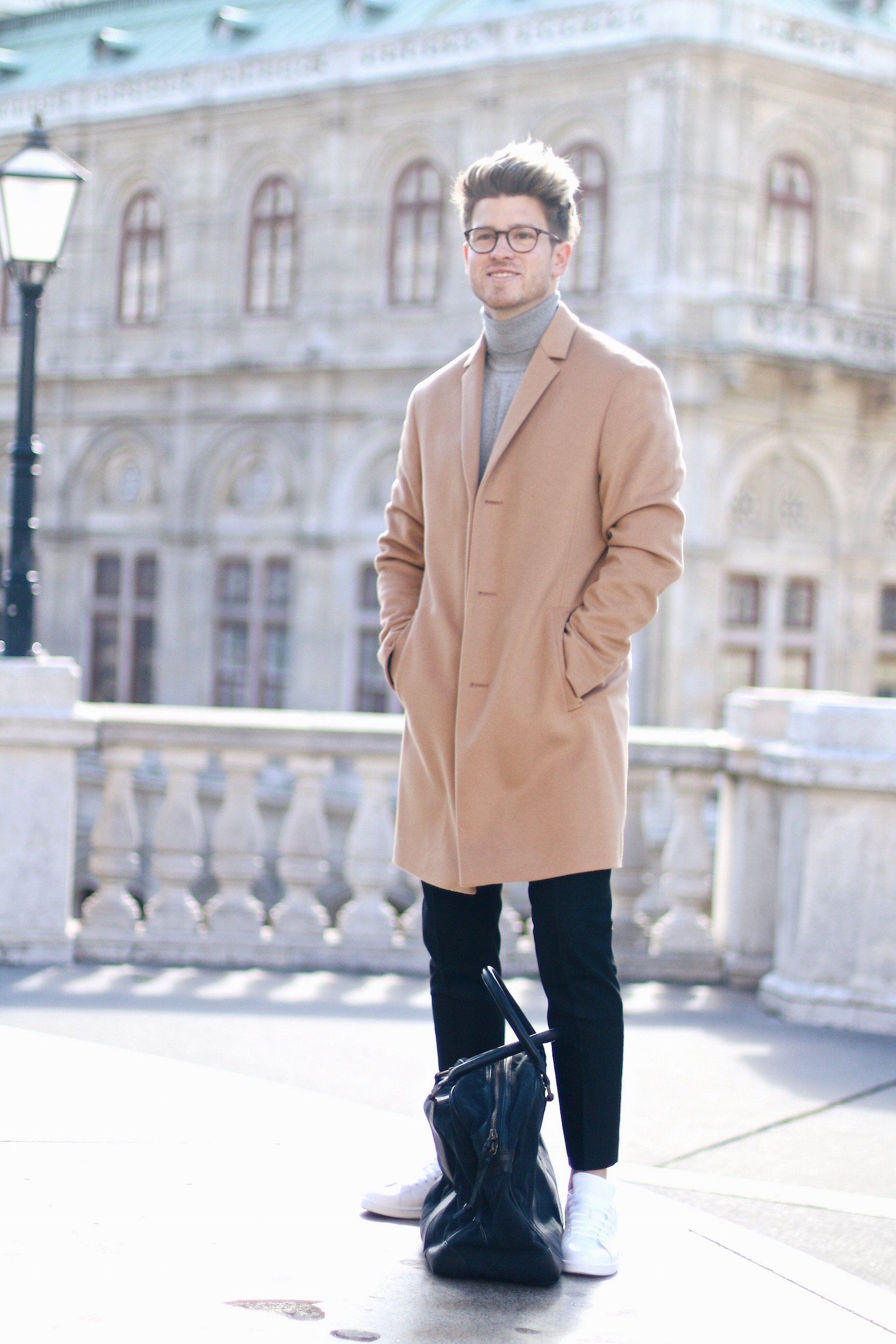 Peek & Cloppenburg Online Shop Launch Austria_Outfit Calvin Klein Camel Coat by Meanwhile in Awesometown_Austrian Mens Fashion and Lifestyle Blog 12