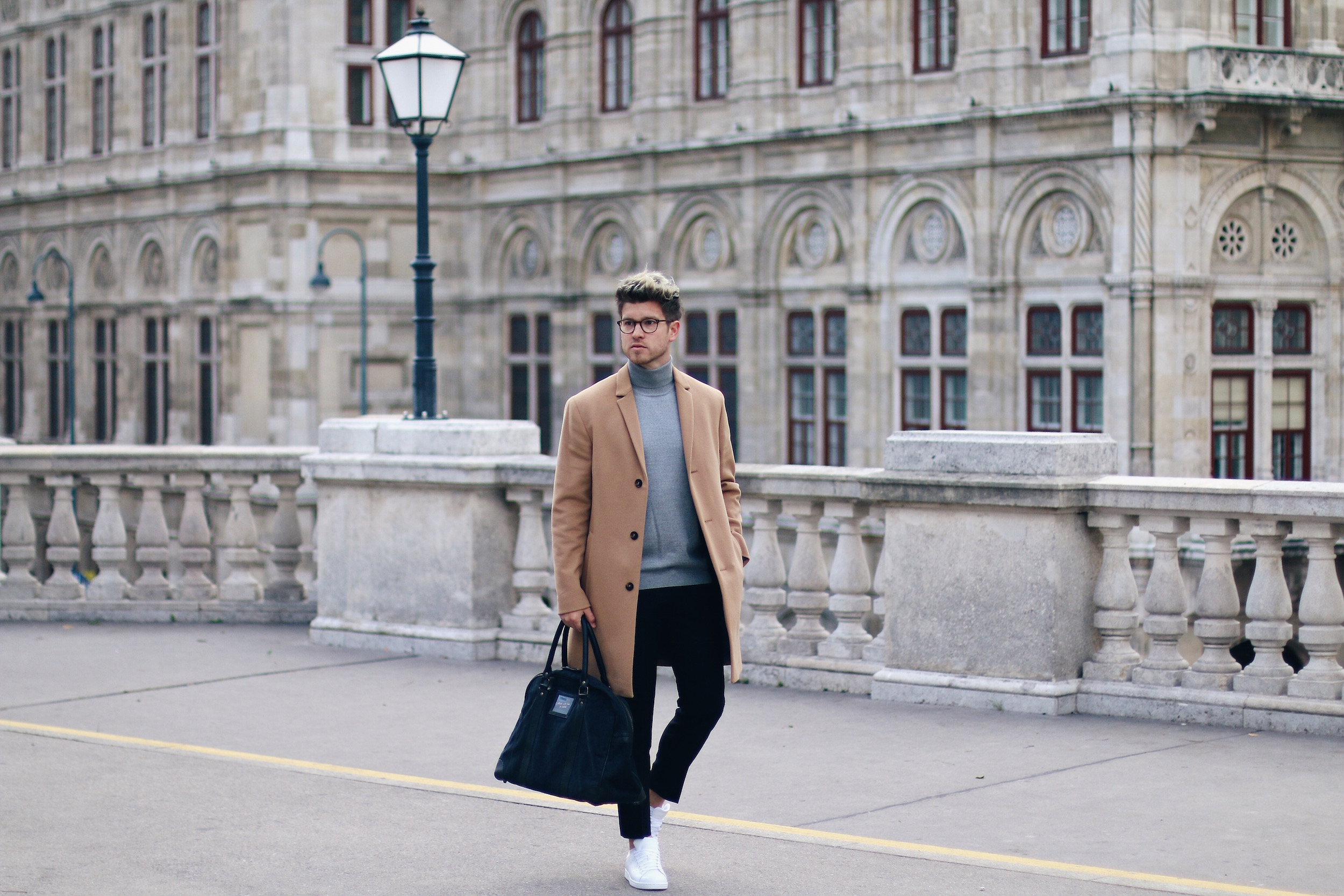 Peek & Cloppenburg Online Shop Launch Austria_Outfit Calvin Klein Camel Coat by Meanwhile in Awesometown_Austrian Mens Fashion and Lifestyle Blog 13