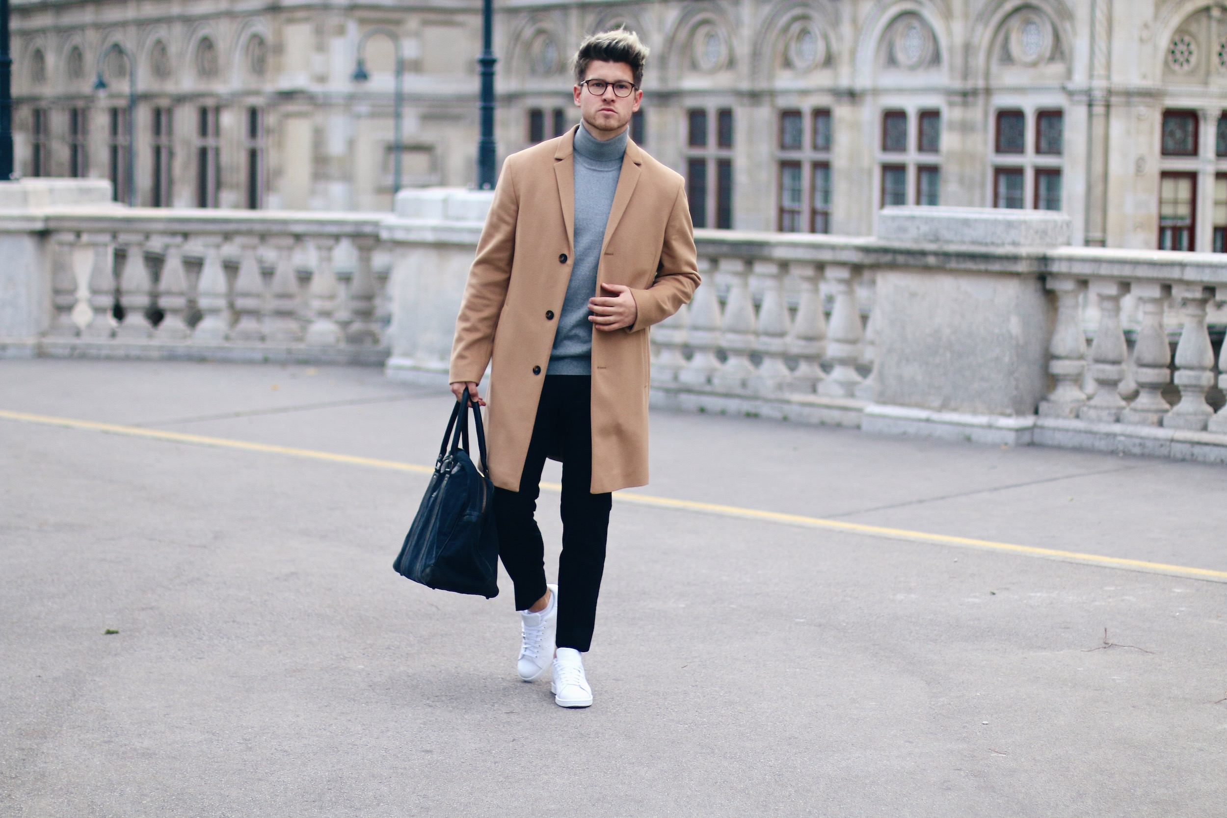 Peek & Cloppenburg Online Shop Launch Austria_Outfit Calvin Klein Camel Coat by Meanwhile in Awesometown_Austrian Mens Fashion and Lifestyle Blog 1