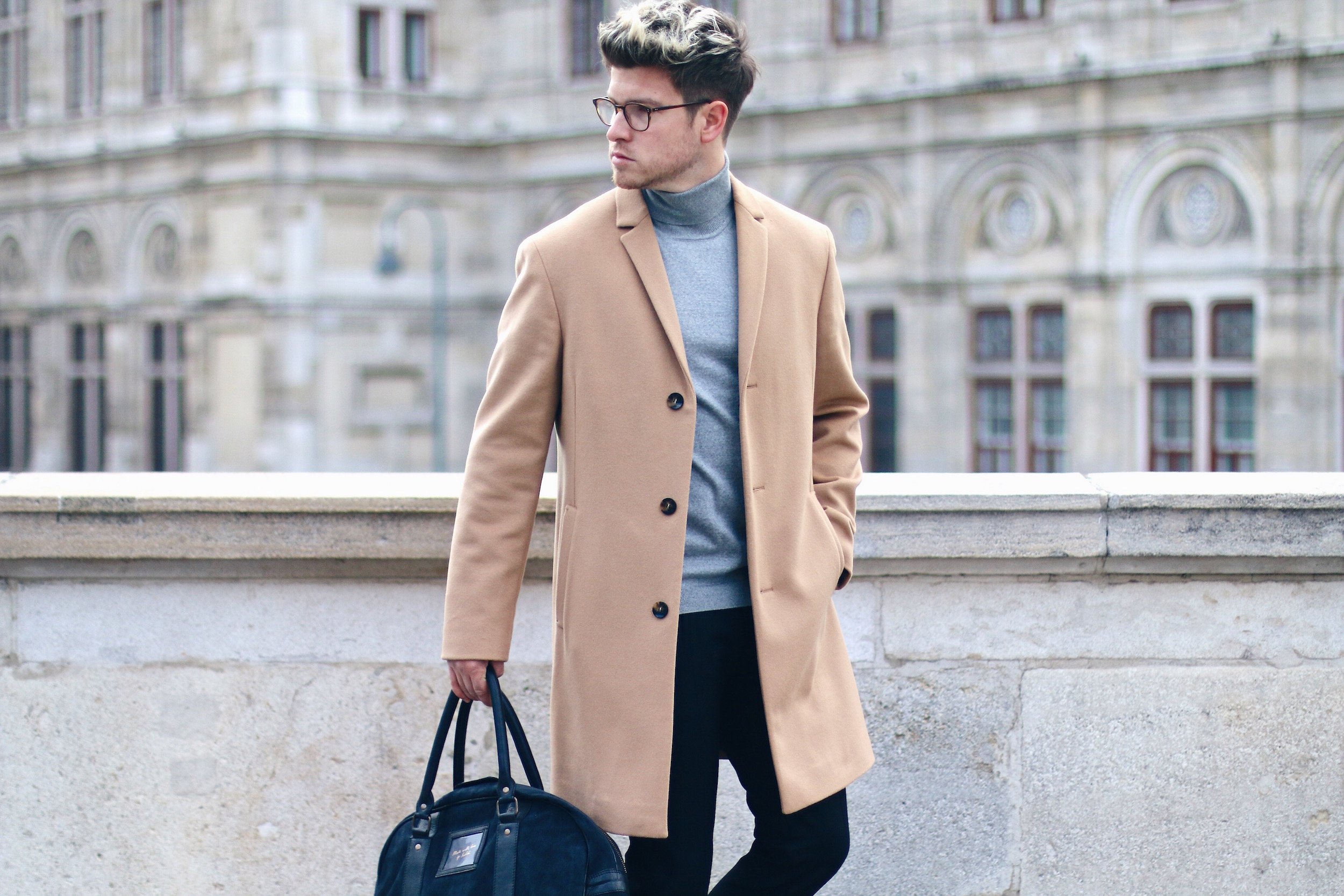 Mens camel overcoat