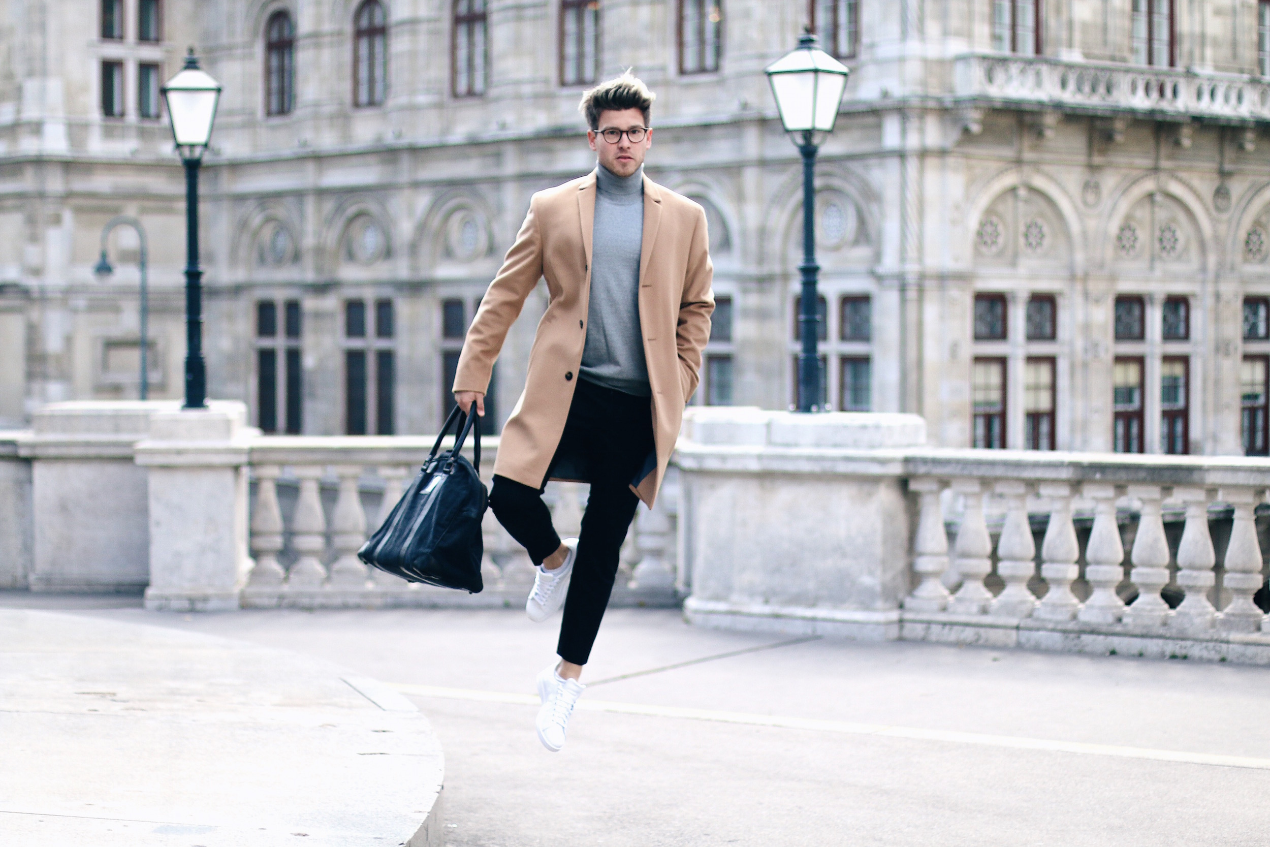 Peek & Cloppenburg Online Shop Launch Austria_Outfit Calvin Klein Camel Coat by Meanwhile in Awesometown_Austrian Mens Fashion and Lifestyle Blog 6