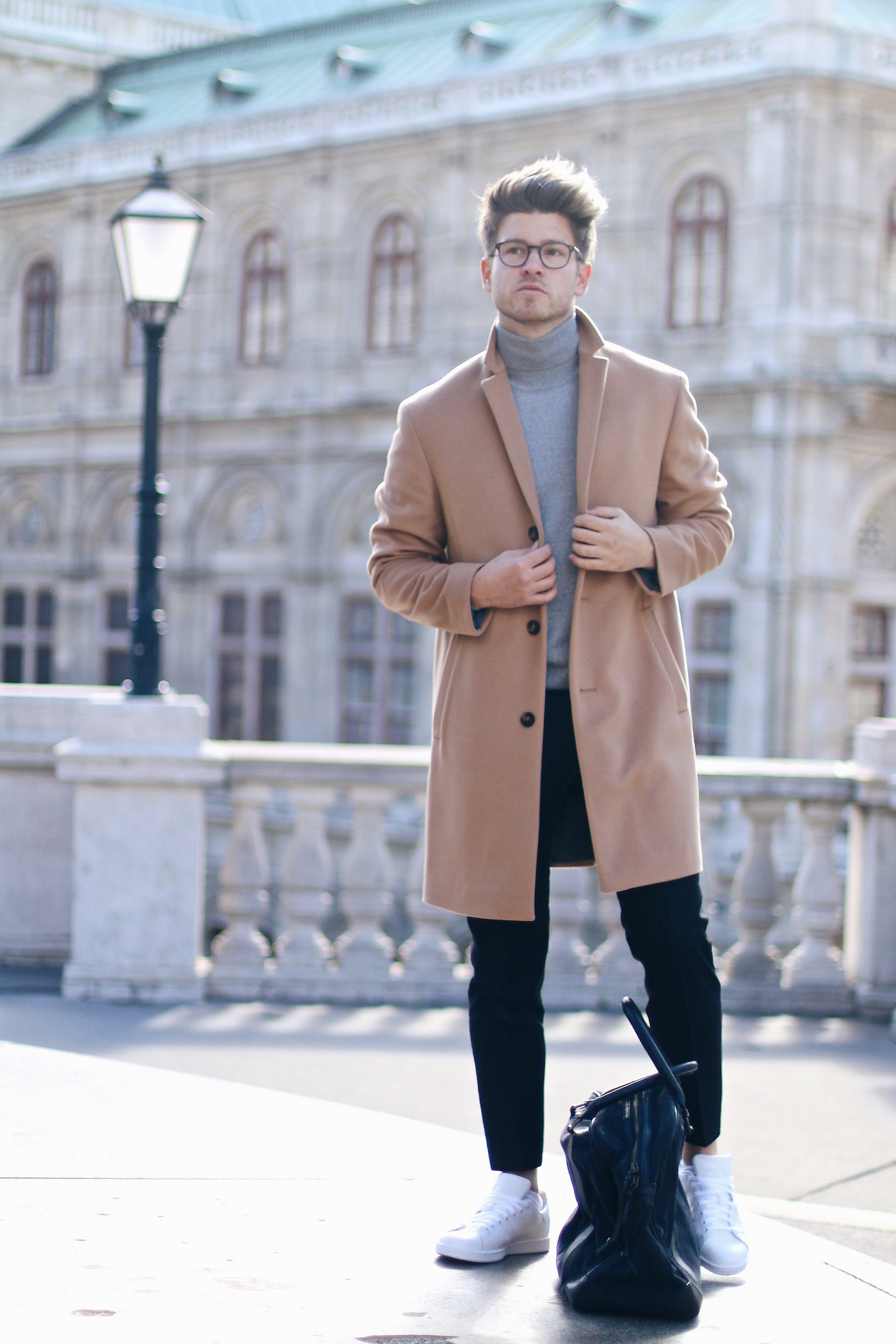 Peek & Cloppenburg Online Shop Launch Austria_Outfit Calvin Klein Camel Coat by Meanwhile in Awesometown_Austrian Mens Fashion and Lifestyle Blog 7