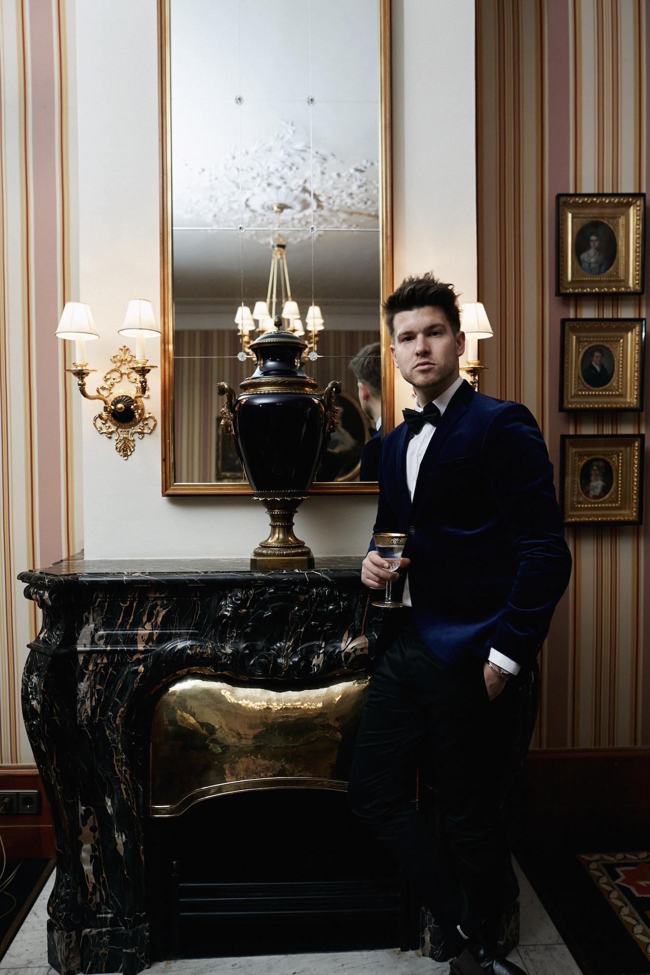 Elegantes Silvesteroutfit für Männer_Tiger of Sweden Samt Blazer_Meanwhile in Awesometown_Modeblogger_Mens Fashion und Lifestyleblogger_Wiener Blogger_Maleblogger11