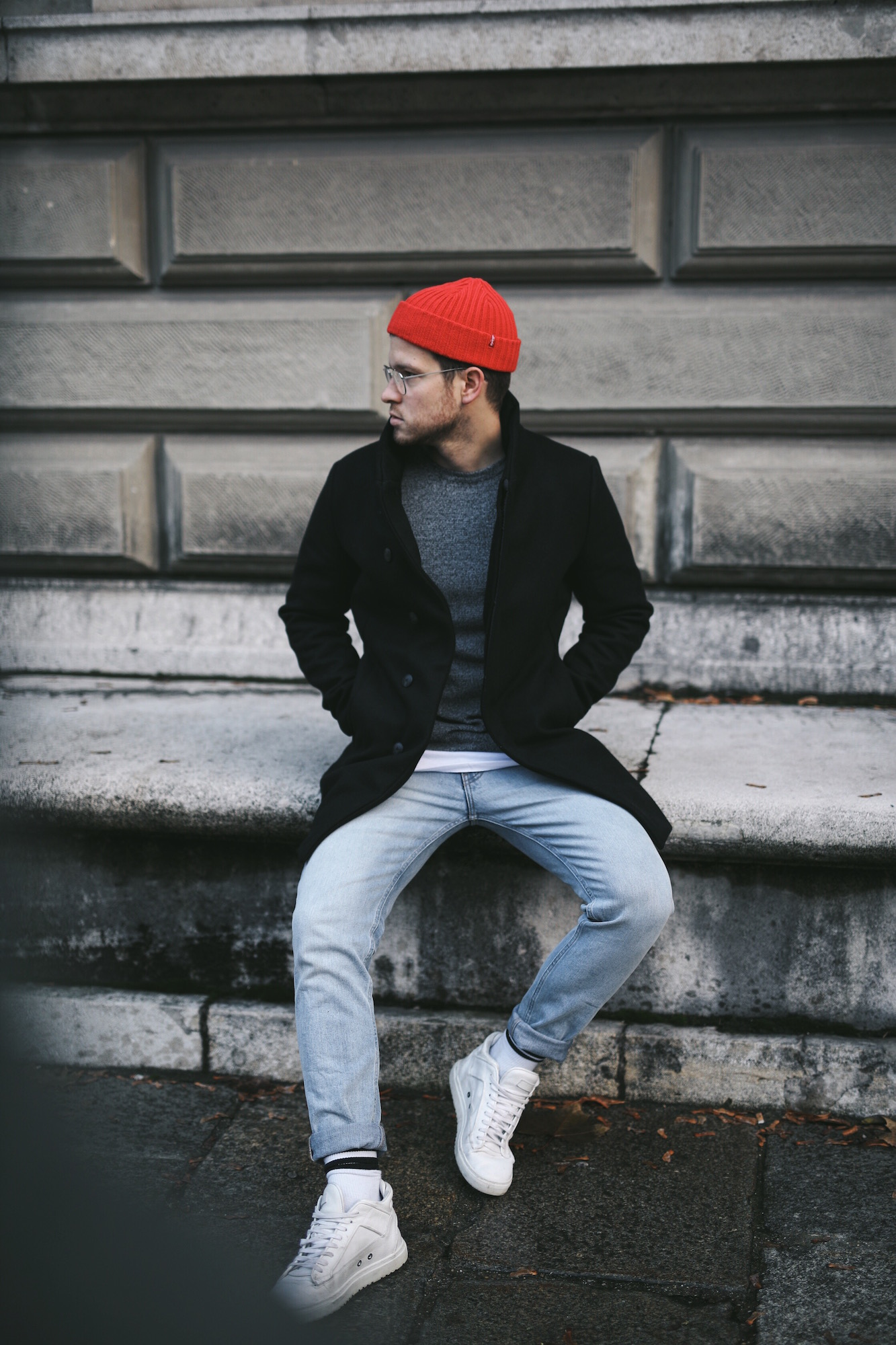 Jack and Jones Premium Mantel_Casual Sundays_Red Beanie_Meanwhile in Awesometown_Austrian Mens Fashion Blogger_Maleblogger_Wiener Blogger_Maennerblog12